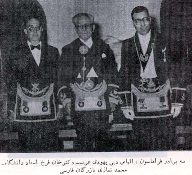 با استناد به همین عکس برخی می نویسند که حاج محمد نمازی (مالک کارخانه فخرایران) عضو کلوپ روتاری و عضو لژ فراماسونری حافظ شیراز و لژ روشنایی بوده است